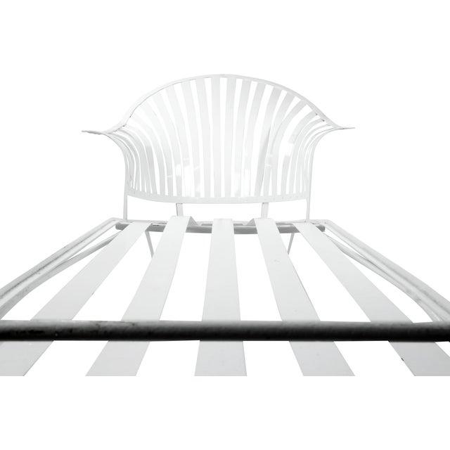 Francois Carre Vintage Fan Back Patio Chaise Lounge - Image 10 of 11