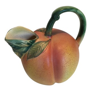 Italian Ceramic Peach Pitcher