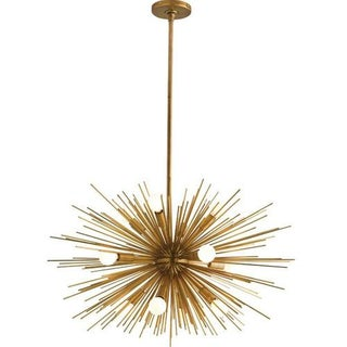 Starburst Antique Brass Chandelier