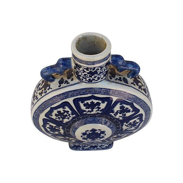 Blue & White Porcelain Asian Vase - Image 3 of 7