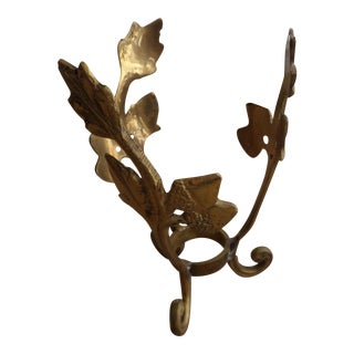Brass Display Stand With a Design of Branches and Tripod Scroll Feet