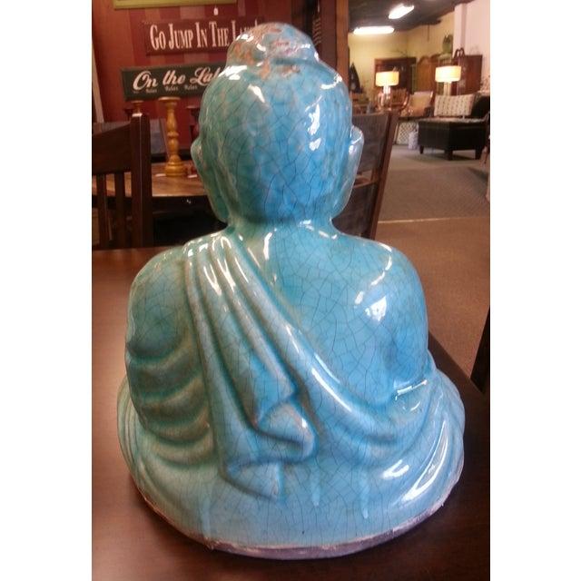 Turquoise Sitting Buddha Statue - Image 8 of 8