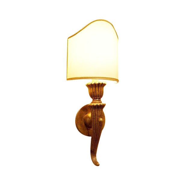 Image of Italian Hand Carved Wood Sconce