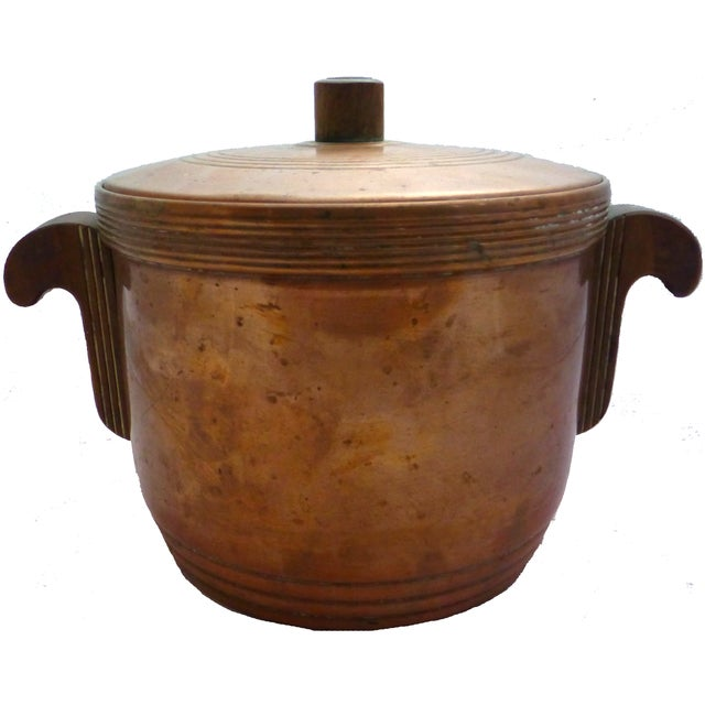 Image of Art Deco Copper Ice Bucket