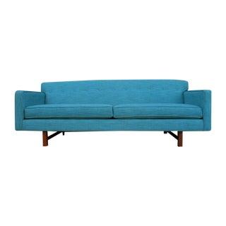 Mid-Century Style Aqua Modernist Sofa