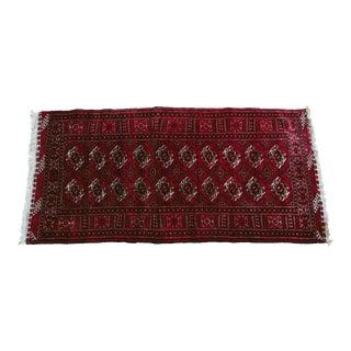 Vintage Bokhara Carpet Rug - 3′8″ × 7′4″