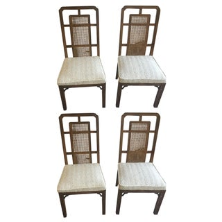Vintage Fretwork Dining Chairs - Set of 4