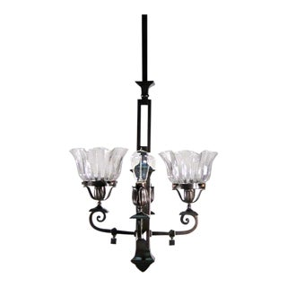 Mission Gas Electric Light Fixture (4-Light)