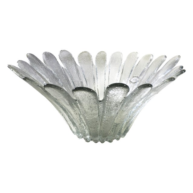 Image of Blenko Floral Shape Textured Glass Bowl
