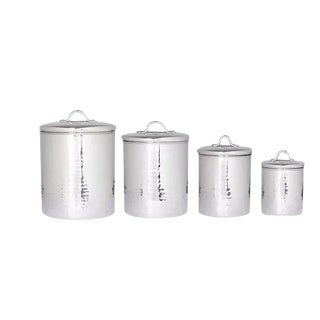 Old Dutch Stainless Steel Canisters - Set of 4