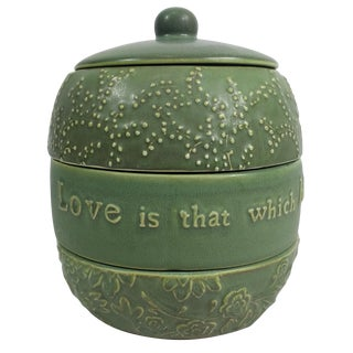 2003 Maya Angelou Hallmark Pottery Trinket Box