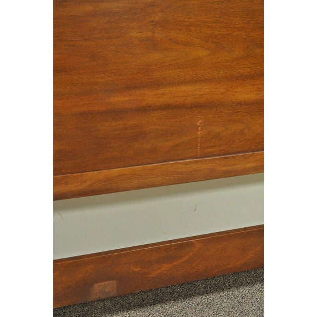 Vintage Drexel Federal Style King Size Poster Bed Headboard - Image 9 of 11