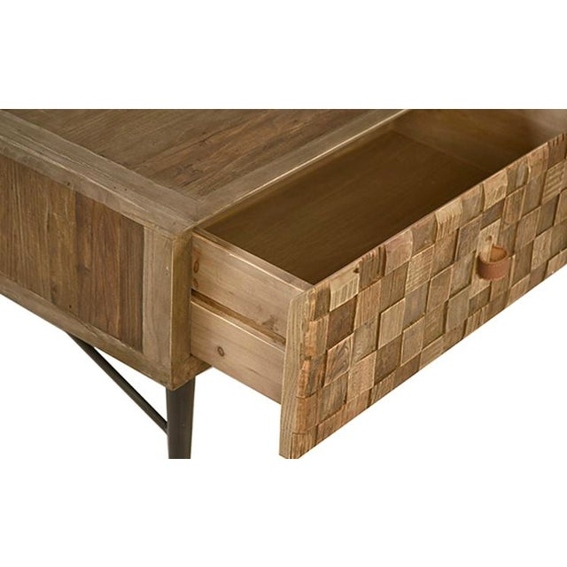 Reclaimed Wood Square Pattern Coffee Table Chairish