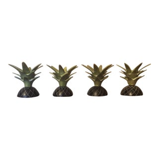 Pineapple Metal Candle Holders - Set of 4