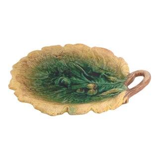 Vintage Oak Leaf Majolica Platter