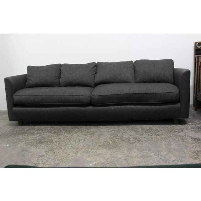 Henredon Curved Arm Charcoal Gray Sofa - Image 3 of 9