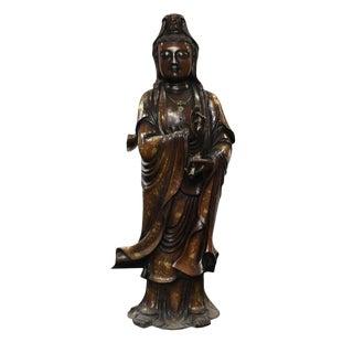 Chinese Bronze Kwan Yin Buddha Statue
