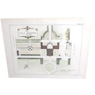 Villa Borghese Frascati Garden Design Lithograph