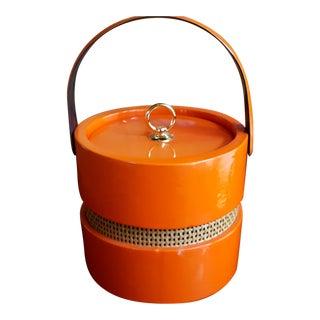 Vintage Orange Vinyl Ice Bucket