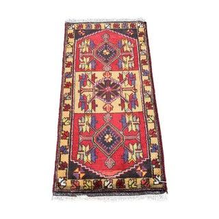 Vintage Turkish Handmade Rug - 1′9″ × 3′8″