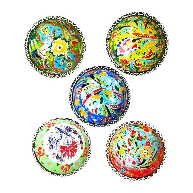 Turkish Tile Bowls - Set of 5 - Image 1 of 5