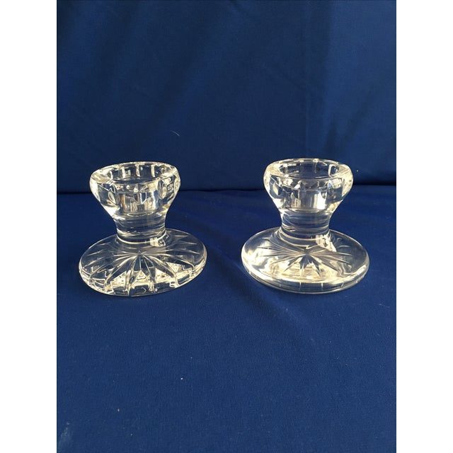 Waterford Lismore Hurricane Lamps - Pair - Image 5 of 8