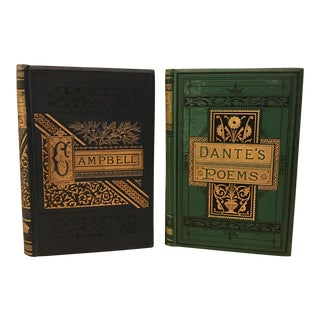 Antique Decorative Poetry Books - A Pair