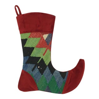 Kilim Christmas Stocking | Jade