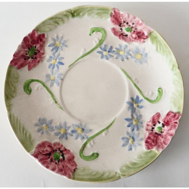 Longchamp Majolica Flowers Plate - Image 2 of 3