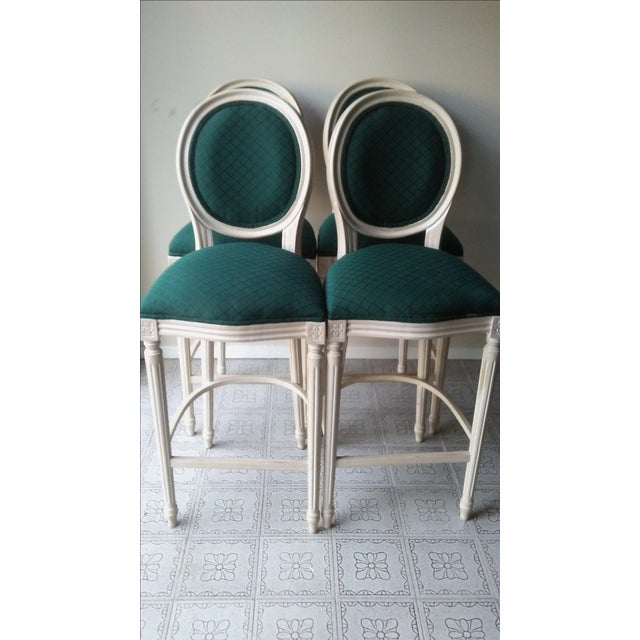 French Louis XVI Style Bar Stools - 4 - Image 2 of 10