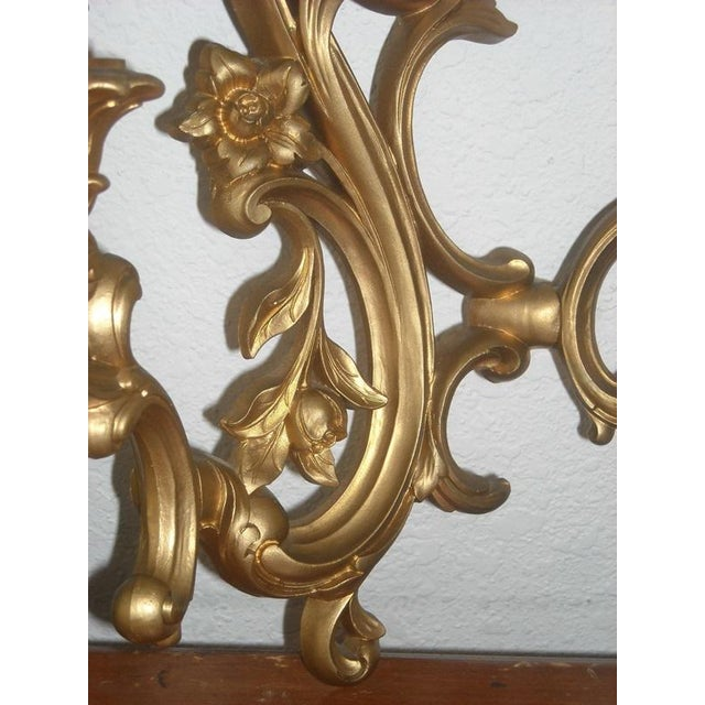 Midcentury Gold Candle Sconces - A Pair - Image 5 of 6