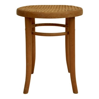 Thonet Cane Bentwood Stool / Plant Stand