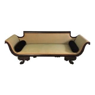 C. 1860s Duncan Phyfe Style Mahogany Empire Sofa