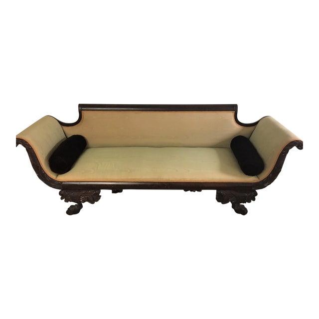 C. 1860s Duncan Phyfe Style Mahogany Empire Sofa - Image 1 of 10