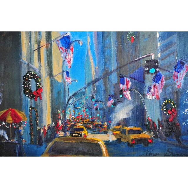 """""""Downtown Manhattan 4th July,"""" Oil Painting - Image 3 of 10"""