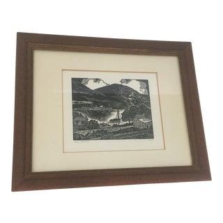 """Hudson Steamboat"" Woodcut Print"
