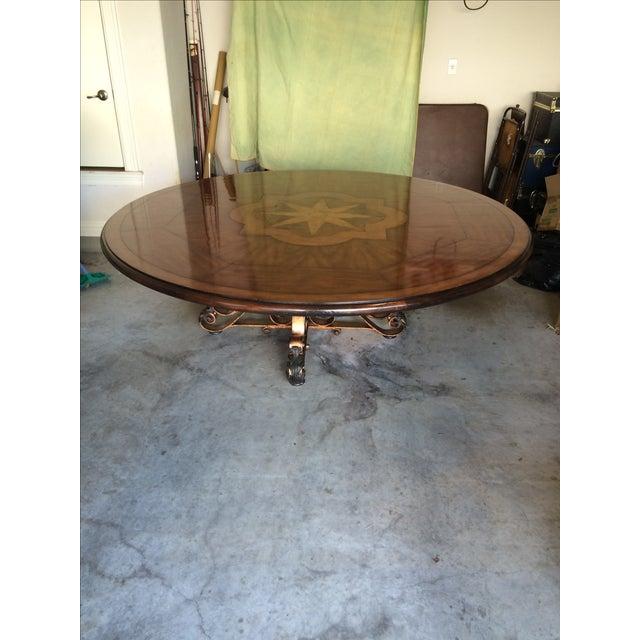 19th C. Walnut & Stellar Parq Nook Table -Set of 9 - Image 3 of 5