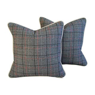 Custom Ralph Lauren Houndstooth Pillows - A Pair