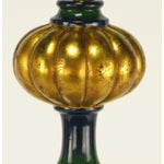 Image of Blue-Green Glazed Parcel Gilt Ceramic Empire Style Table Lamp