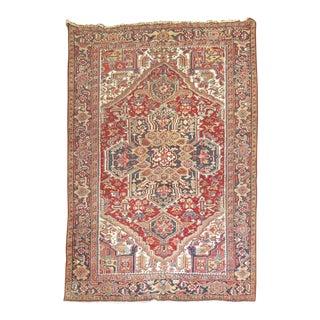 "Vintage Persian Heriz Carpet - 7'7"" x 11'3"""