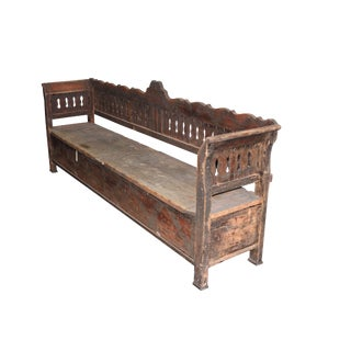 French Pine Hall Bench
