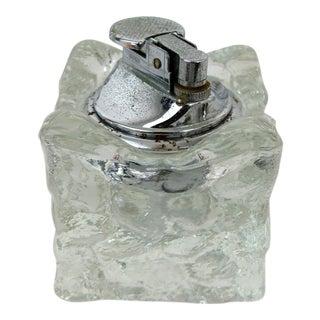 Mid-Century Glass Ice Cube Lighter