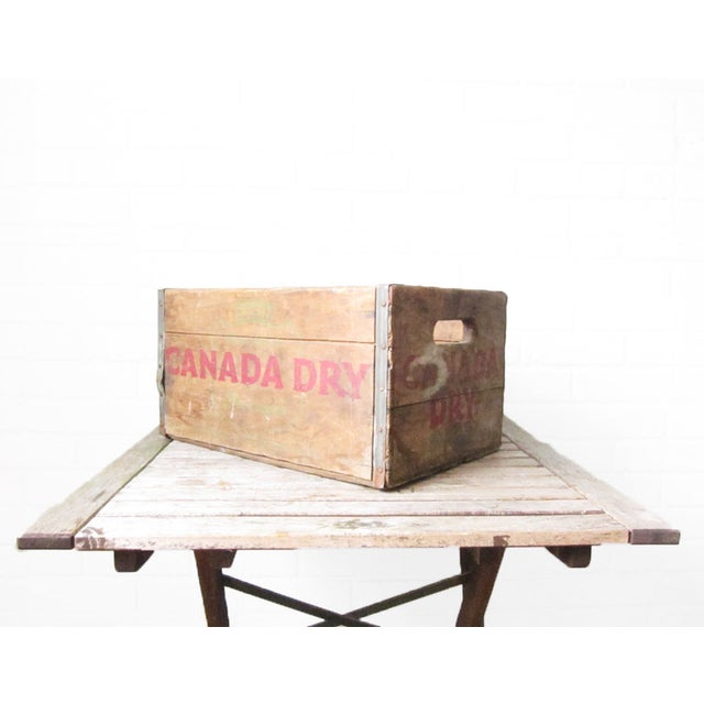 Vintage Canada Dry Crate - Rustic Wood Box - Image 3 of 5