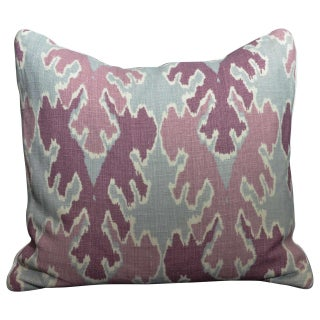Purple and Gray Ikat Pillows - a Pair