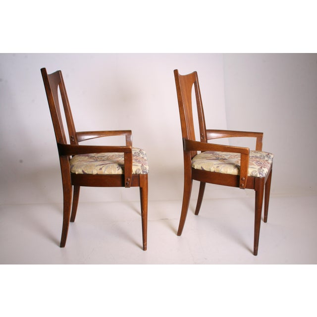 Image of Mid Century Modern Broyhill Brasilia Dining Chairs - A Pair