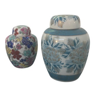 Vintage Japanese Ginger Jars - Pair