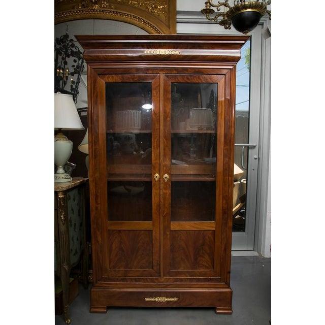 19th Century French Empire Mahogany Bookcase - Image 9 of 10