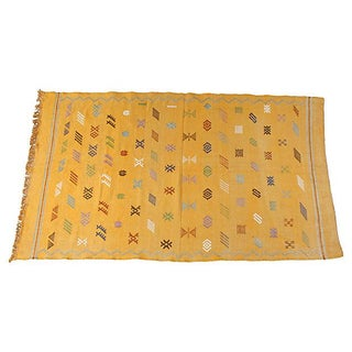 Moroccan Cactus Silk Rug - 4' x 6'4''