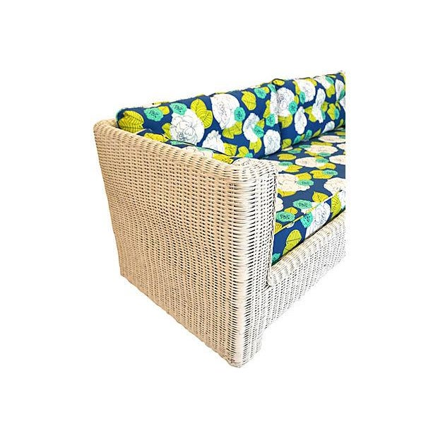 White Wicker Indoor/Outdoor Sofa - Image 7 of 7