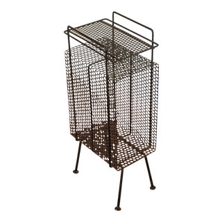Perforated Metal Mid-Century Telephone Stand